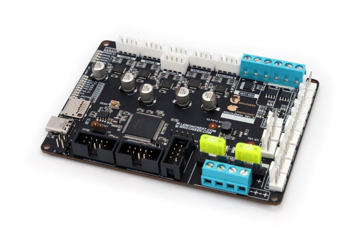 Placa controladora para impresoras 3D Bricolemon rev B - Diseñada y Fabricada en España
